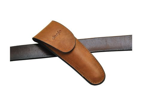 Deejo 37g Belt leather sheath, natural